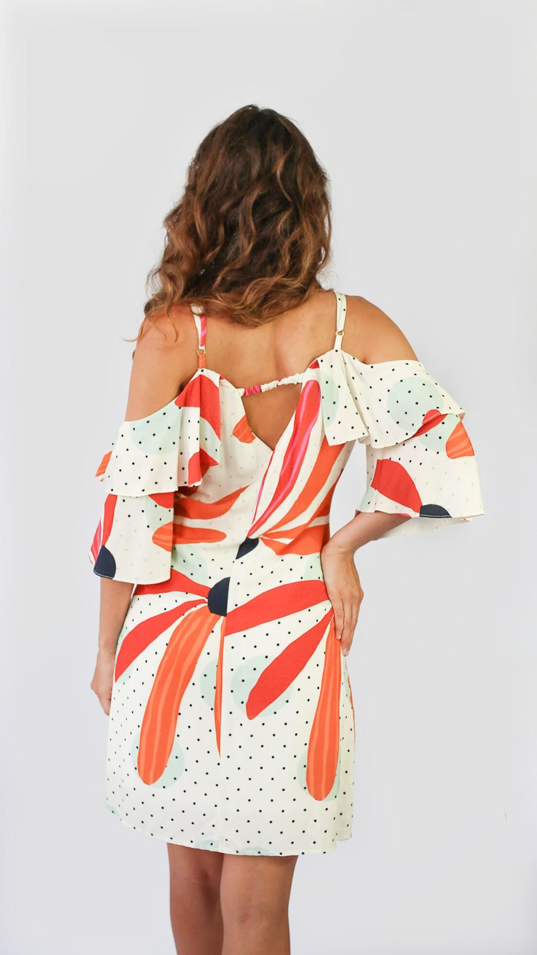 Vestido flor de argila [ curto ]
