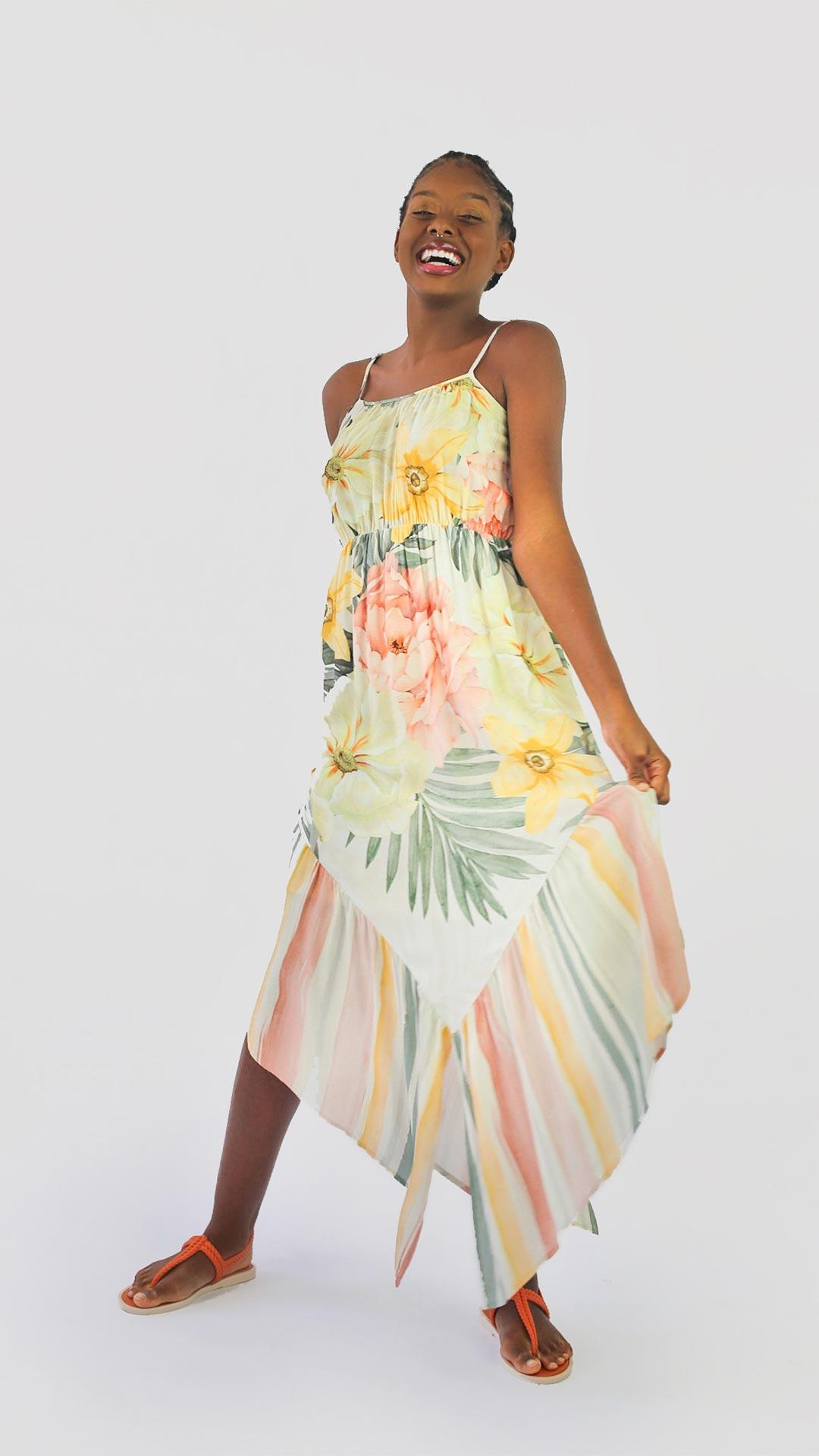 Vestido Floral Candy  [ Assimetrico ]
