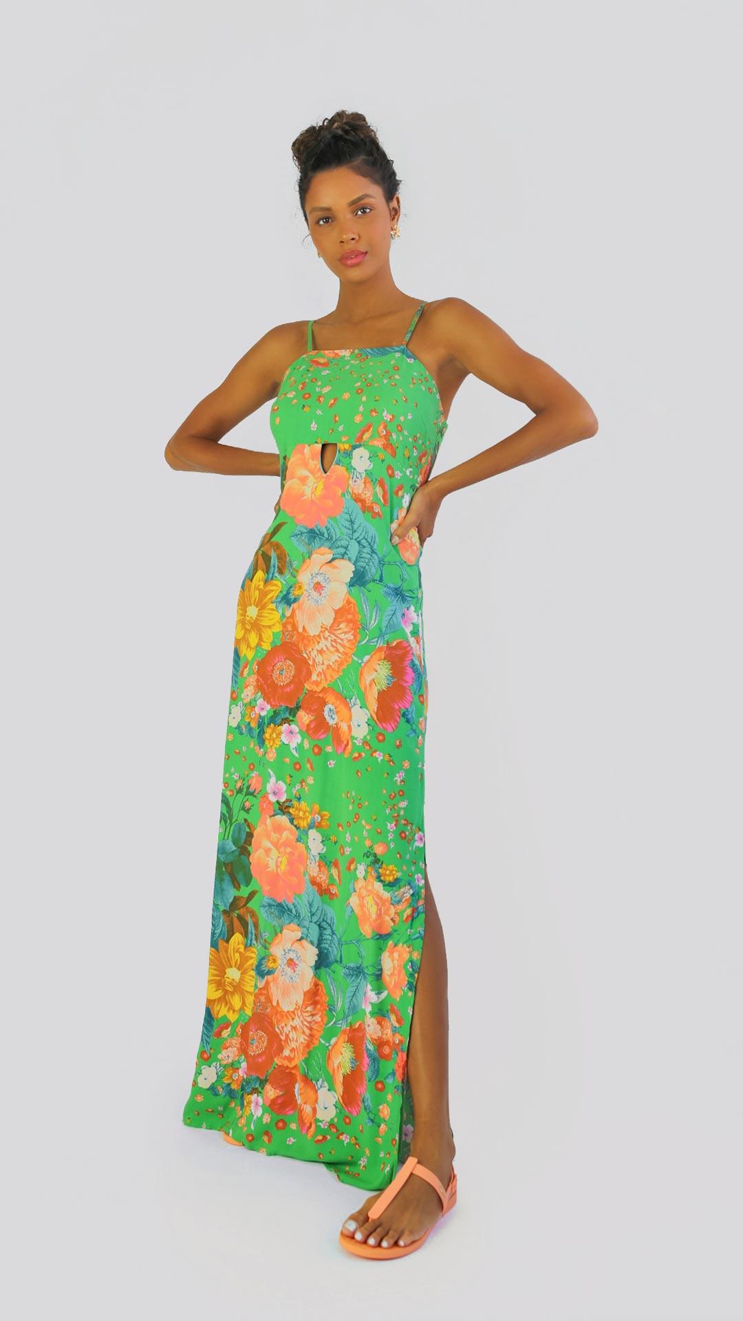 Vestido floral lima