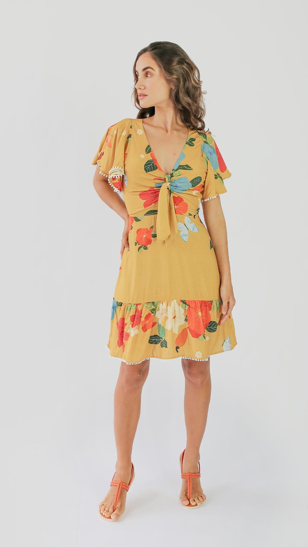 Vestido Gamboa [ curto ]