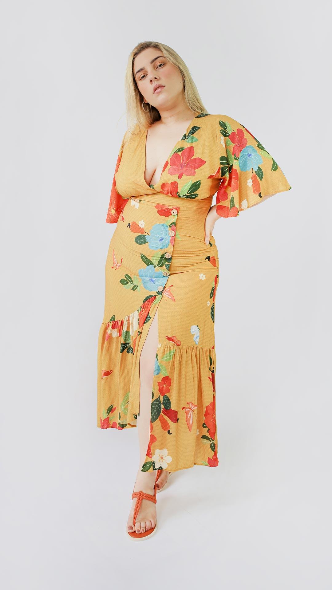 Vestido Gamboa [ longo ]