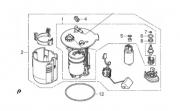 Bomba de Combustível Quadriciclo Fourtrax TRX 420 Original Honda 16700HR3L21