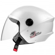 Capacete Aberto Moto Pro Tork New Liberty Three Elite Pearl White