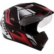 Capacete Moto Pro Tork TH1 Vision New Adventure Vermelho