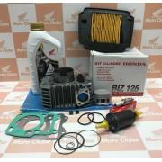 Kit Cilindro Completo Biz 125 2011 a 2020 Original Honda