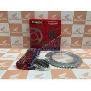 Kit Relação Transmissão NXR Bros 125 Original Honda H0640K13900