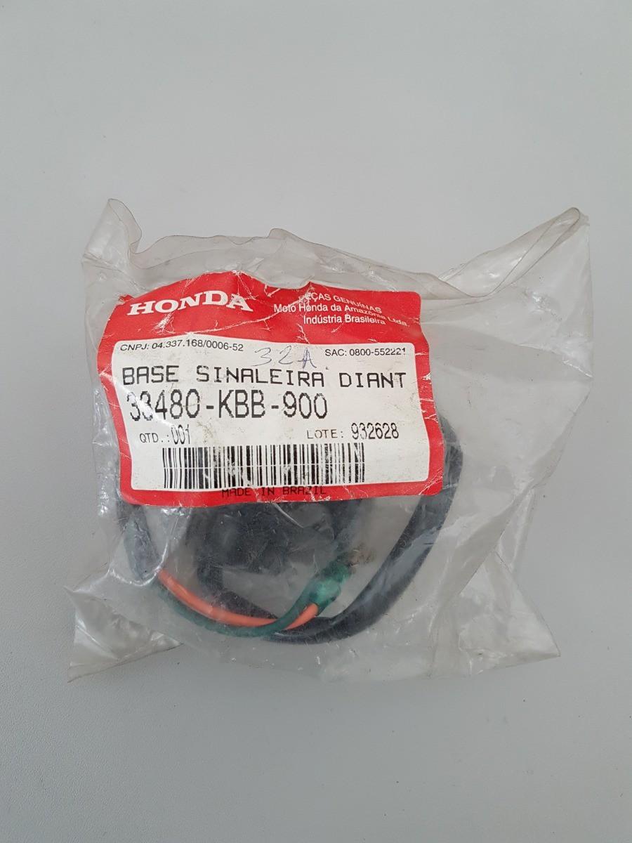 Base Sinaleira Dianteira Direita NXR Bros 125 XR 200 Original Honda 33480KBB900