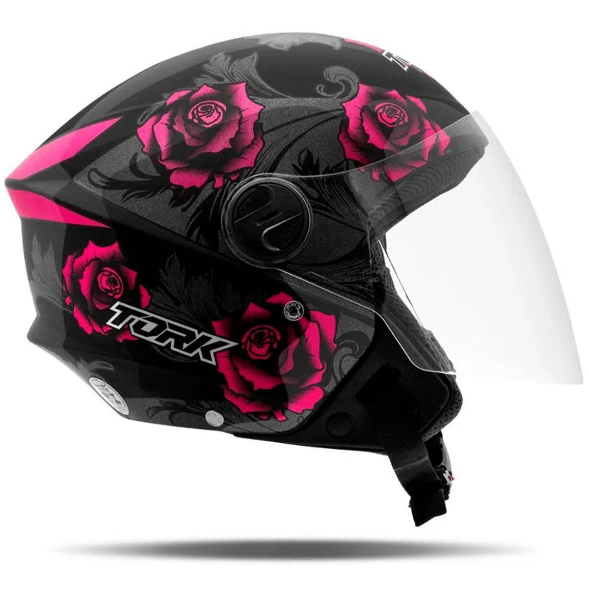 Capacete Moto Aberto ProTork New Liberty 3 Flowers