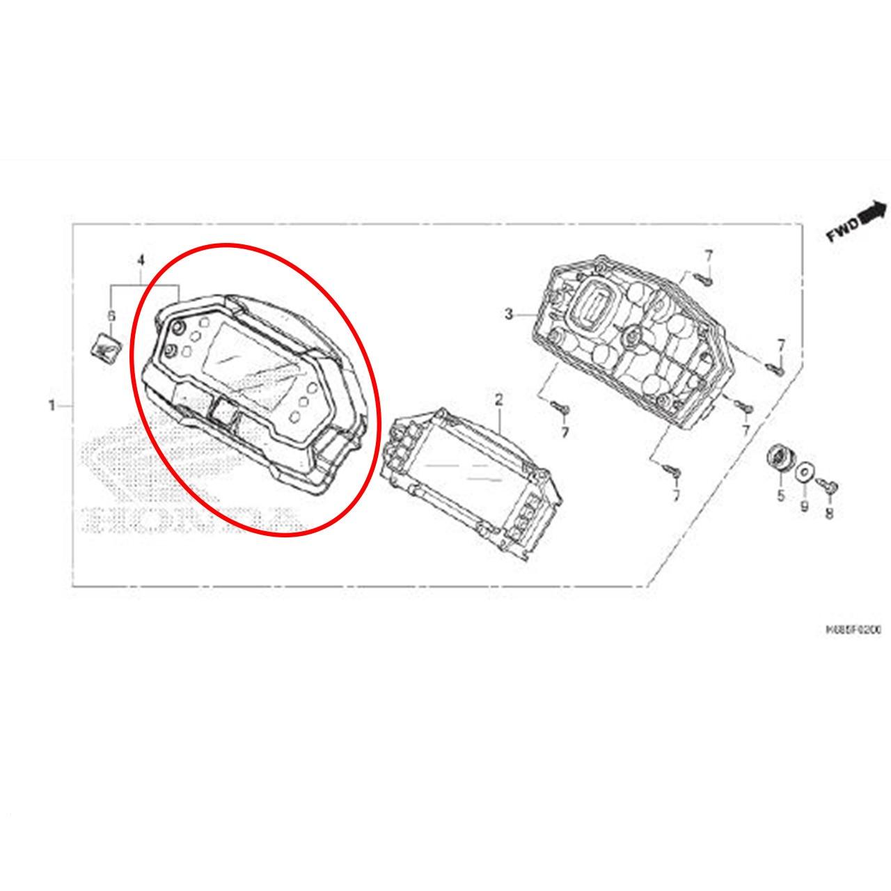 Carcaça Superior Painel XRE 190 2016 2017 2018 2019 Original Honda 37125K68900