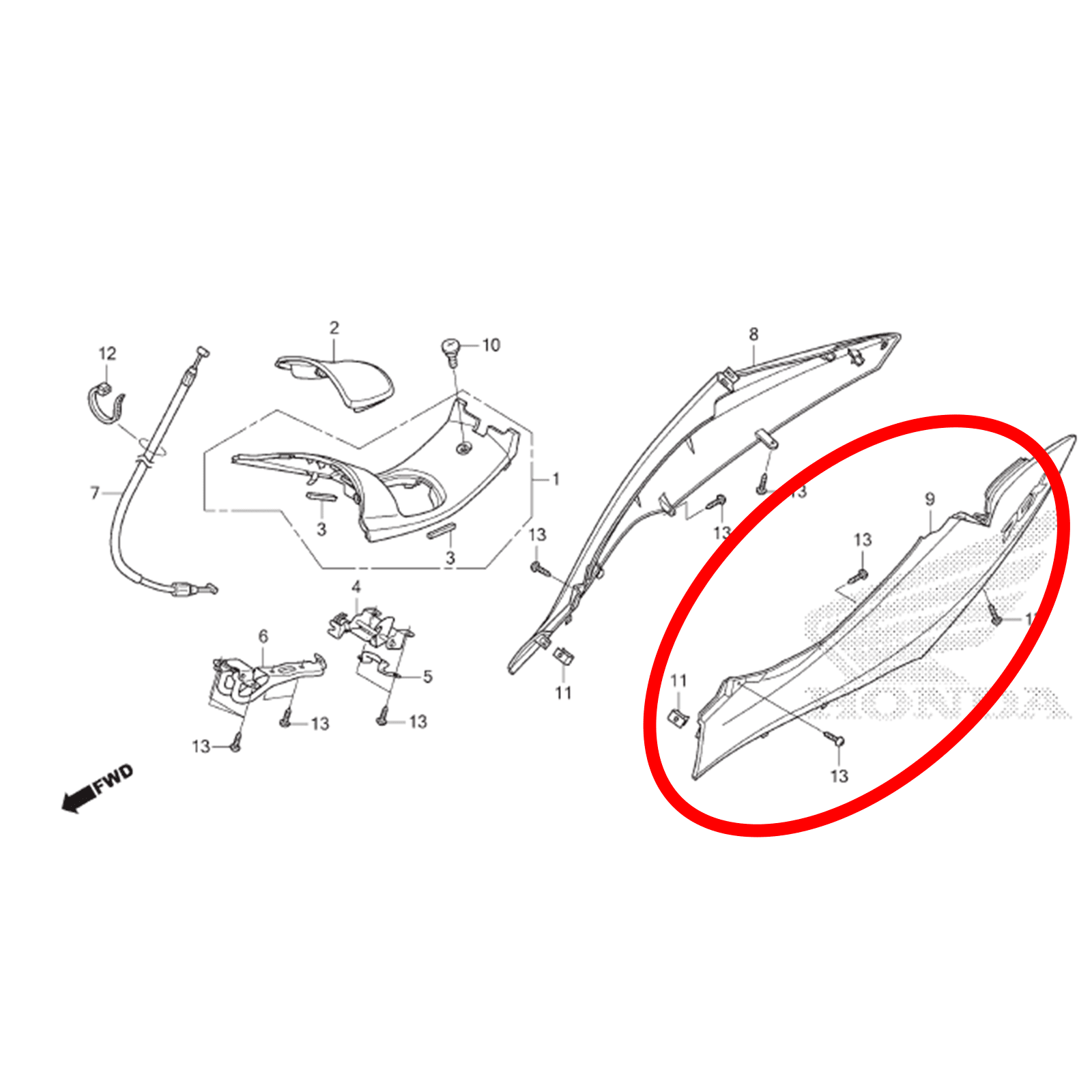 Carenagem Lateral Esquerda Branca Pcx 150 2013 2014 2015 Original Honda 83650KZYB00ZC