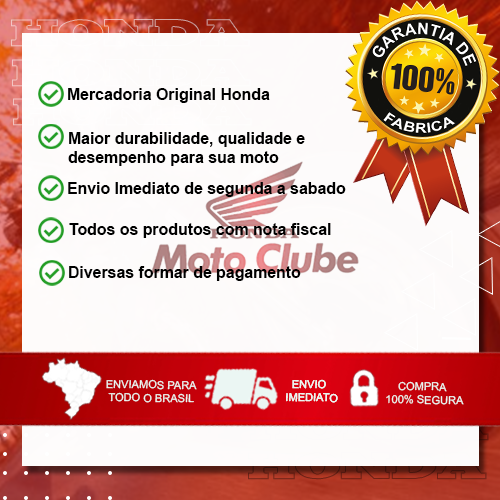 Eixo Cavalete Central CG 160 2016 2017 2018 2019 2020 Original Honda 50512KVSF30