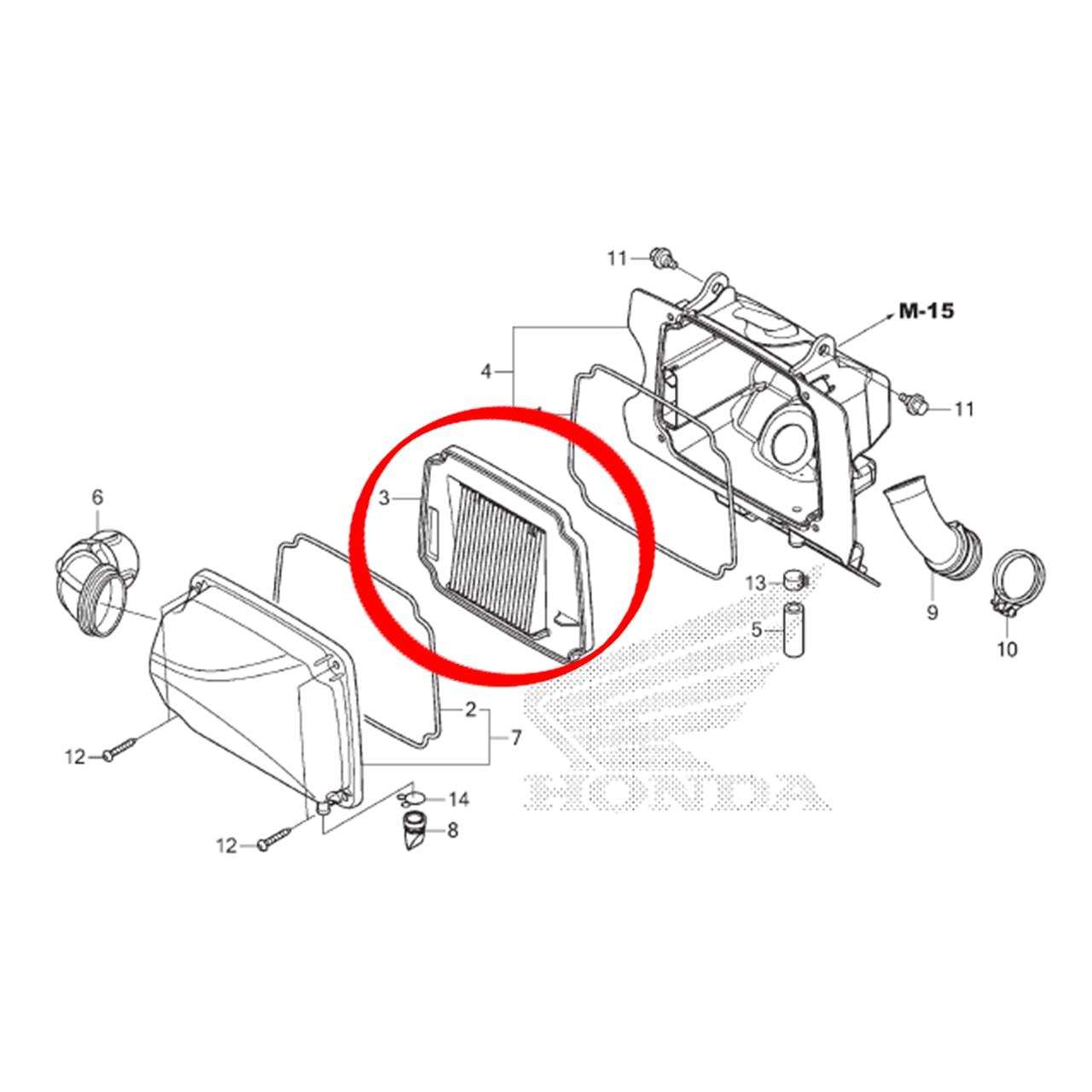 Elemento Filtro de Ar Biz 125 2018 2019 2020 Original Honda 17220KSSJ30