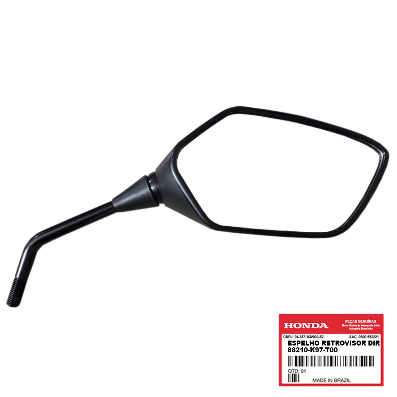 Espelho Retrovisor Direito PCX 150 2019 2020 Original Honda 88210K97T00