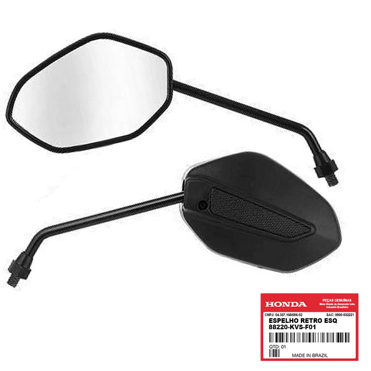Espelho Retrovisor Esquerdo CG 150 2014 2015 Original Honda 88220KVSF01