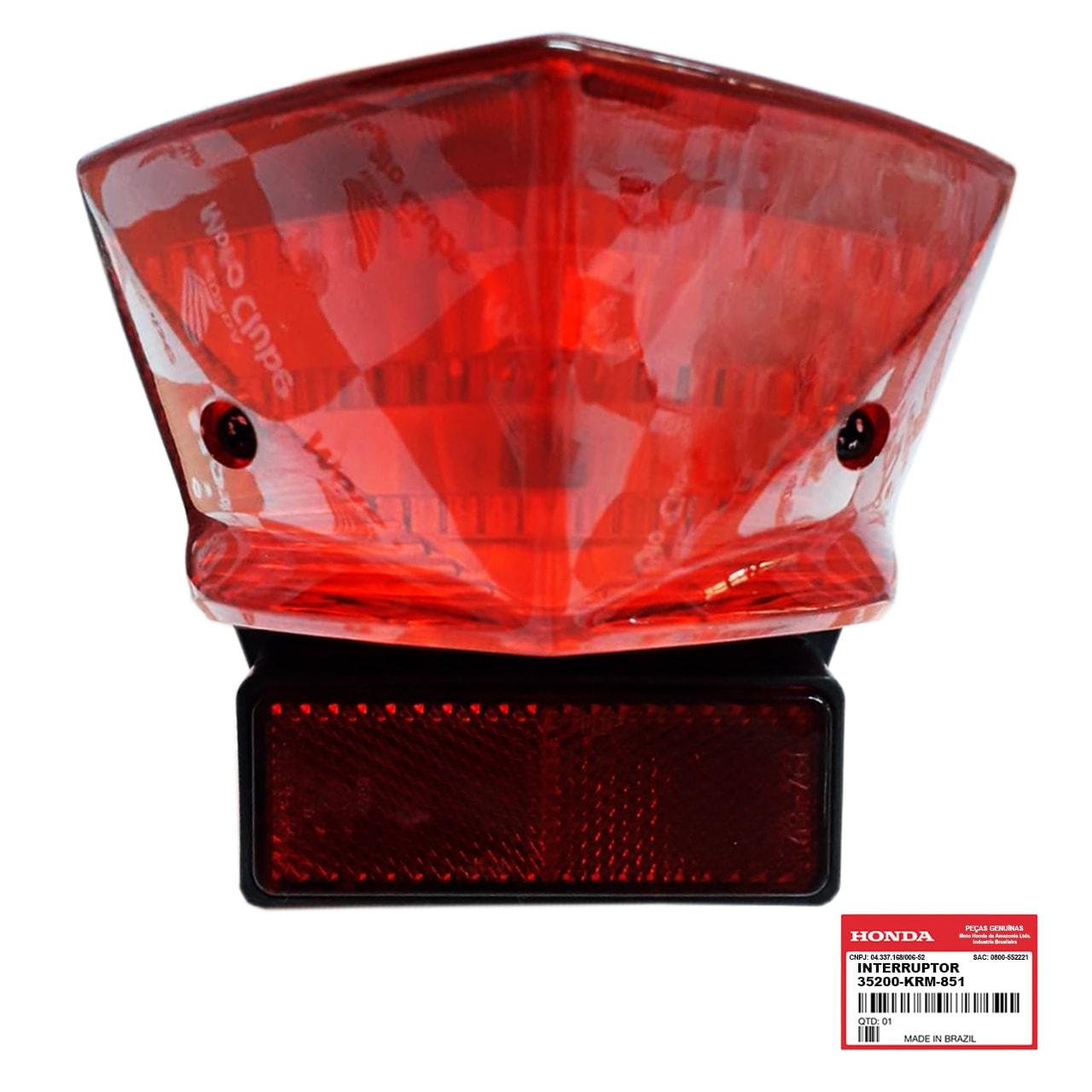 Estopa Lanterna Traseira CB 300 R RA 2010 2011 Original Honda 33700KVK901