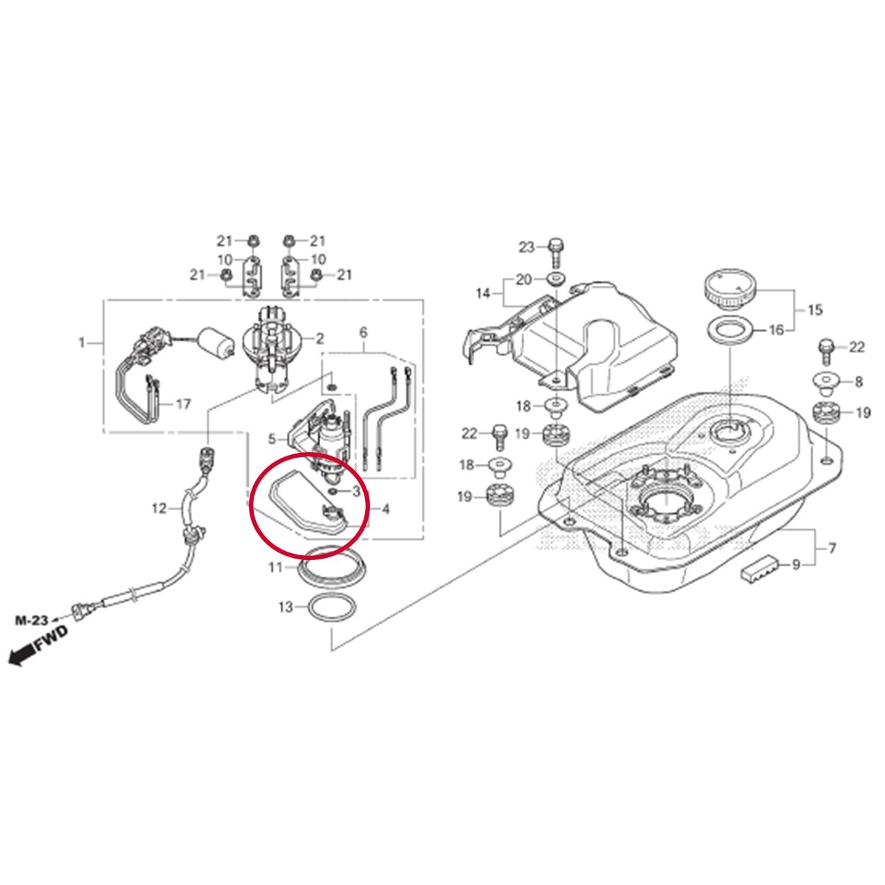 Filtro Combustível POP 110i 2016 2017 2018 2019 2020 Original Honda 16707KWN711