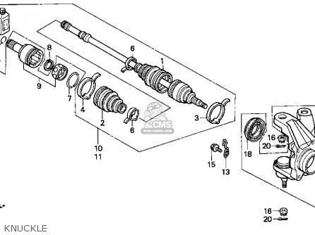 Junta Homocinetica Quadriciclo Foutrax TRX 350 4X4 42220HM7003
