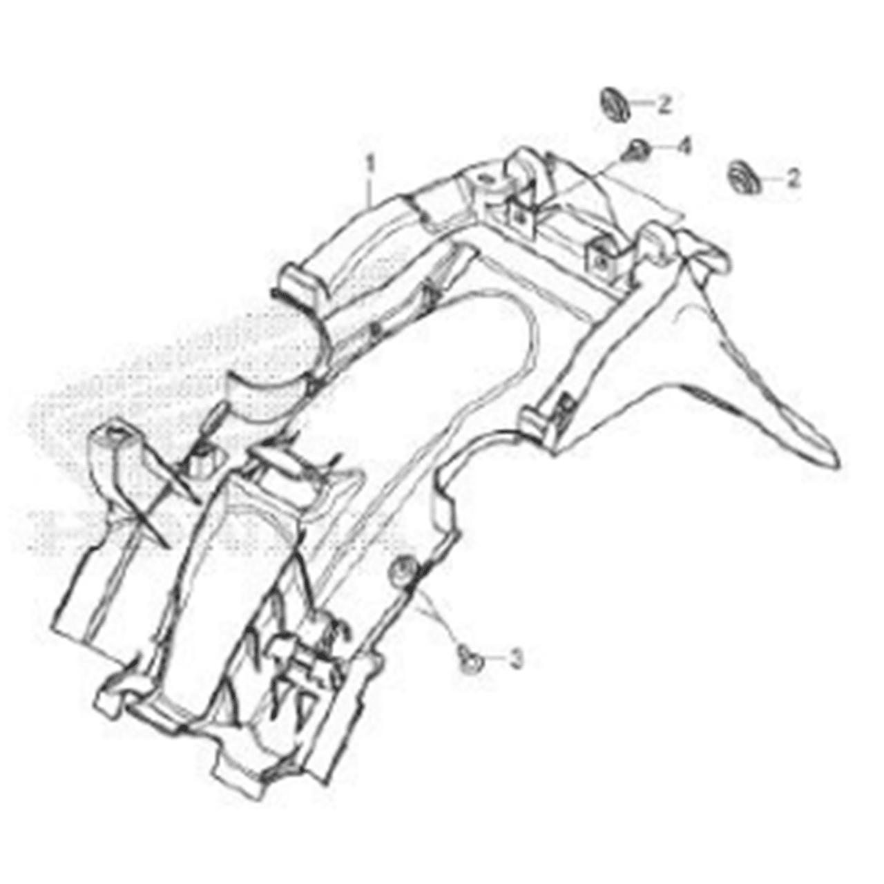 Kit Paralama + Carenagem Biz 125 2018 2019 2020 Original Honda