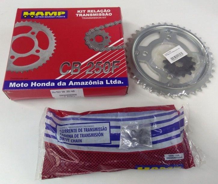 Kit Relação Transmissão CB 250F Original Honda H0640K31900