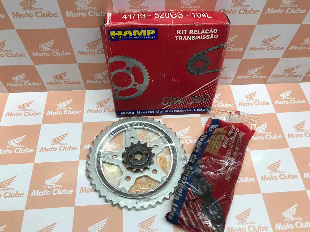Kit Relação Transmissão CBX 200 Strada Original Honda H0640KBW900