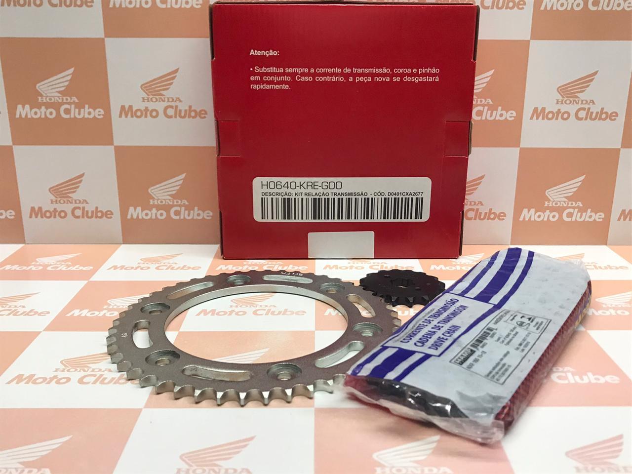 Kit Relação Transmissão NRX Bros 160 Original Honda H0640KREG00