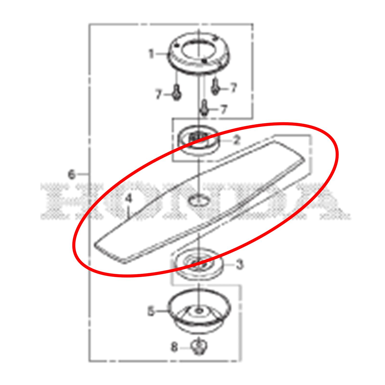 Lamina 2 Facas Roçadeira Honda 72511vk9A01
