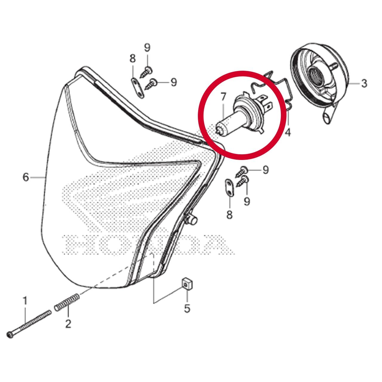 Lampada Farol  BIZ 125 BROS CG FAN TITAN XRE POP 110i Original Honda 34901KTE740