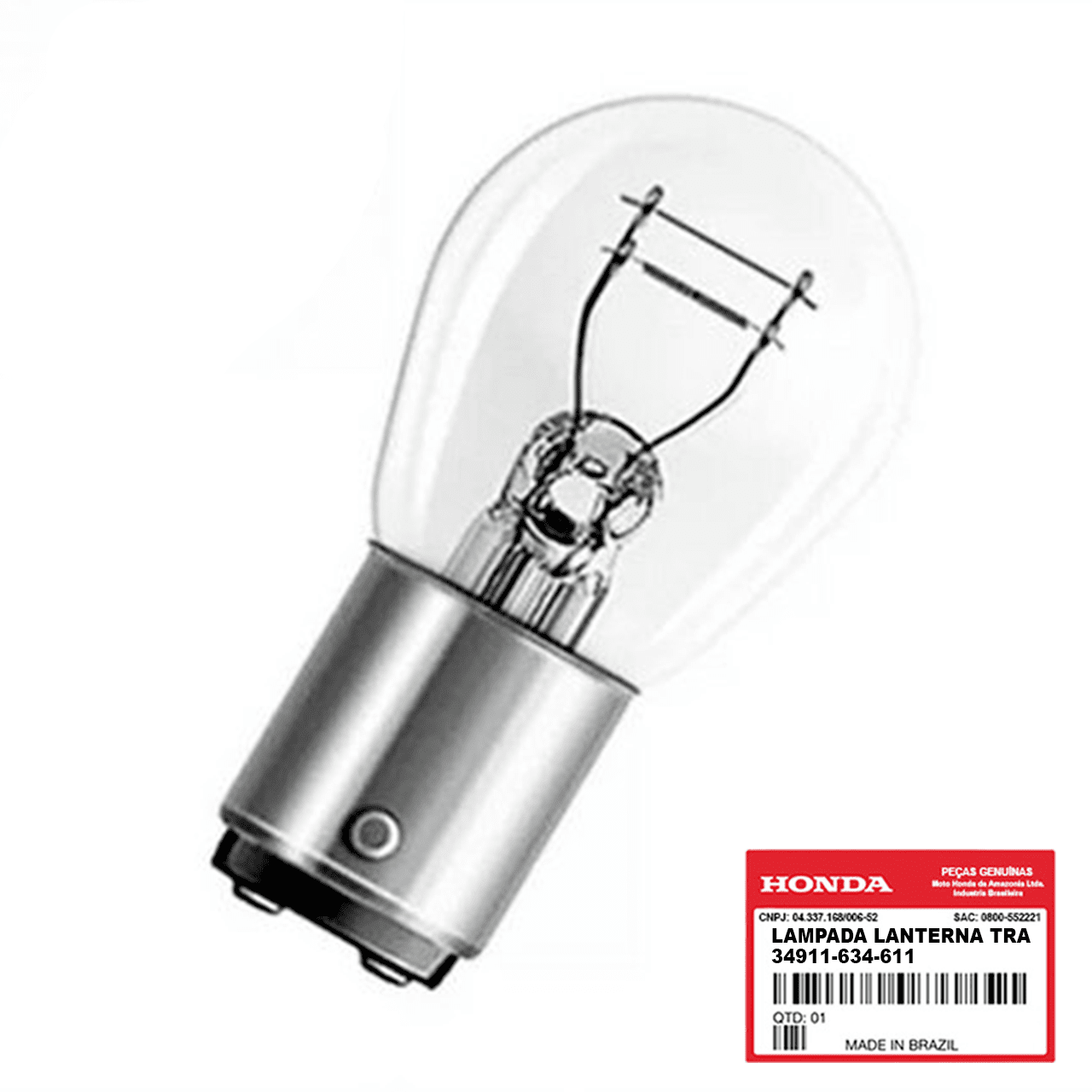 Lâmpada Lanterna Traseira Original Honda 34911634611