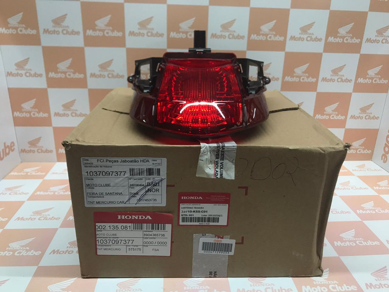 Lanterna Traseira Biz 100 Biz 110i Biz125 Original Honda  33710KSSC01