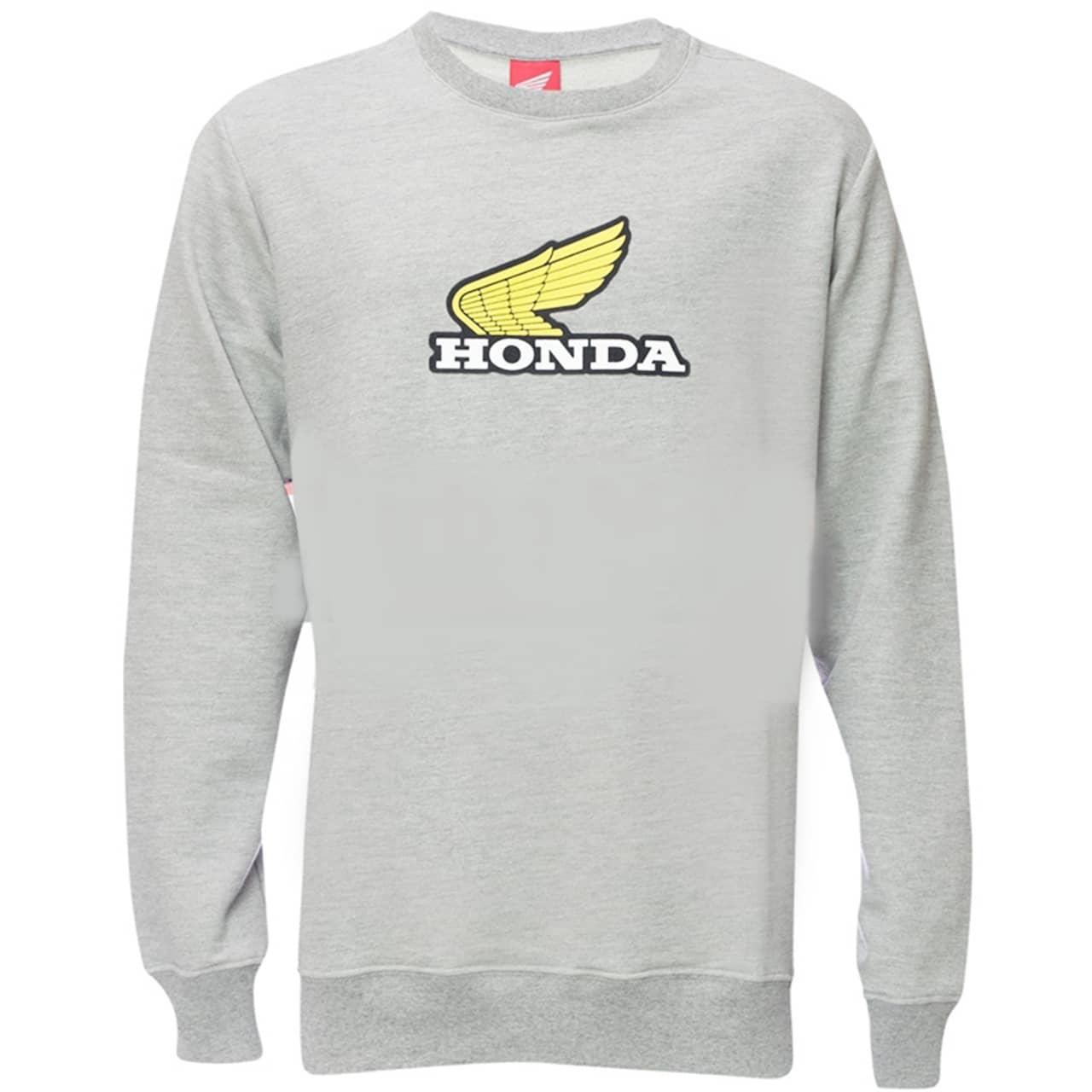 Moletom Honda Básico Cinza Coleção Vintage