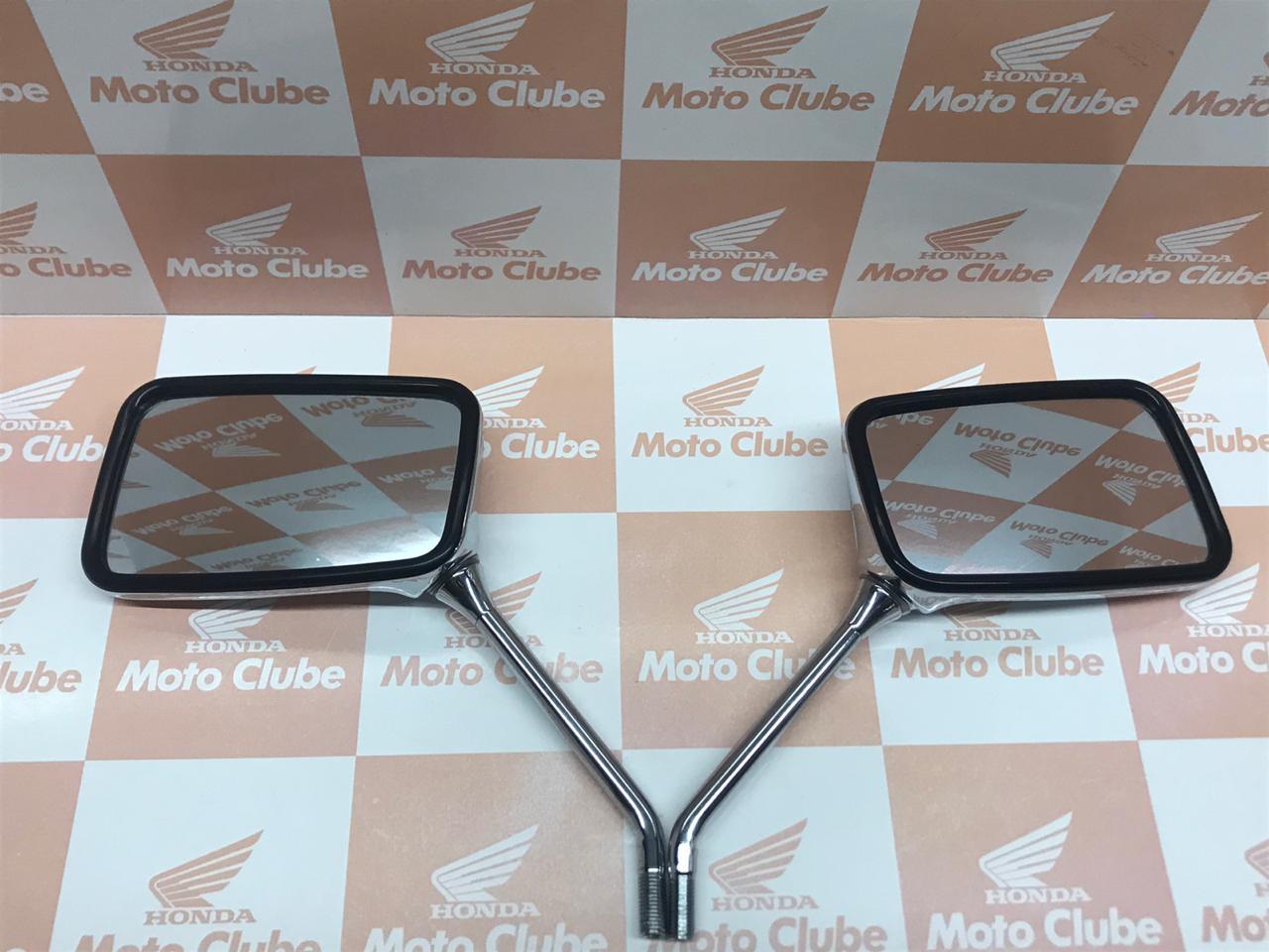 Par Espelhos Retrovisores com Porcas 10MM CB600 Hornet Original Honda
