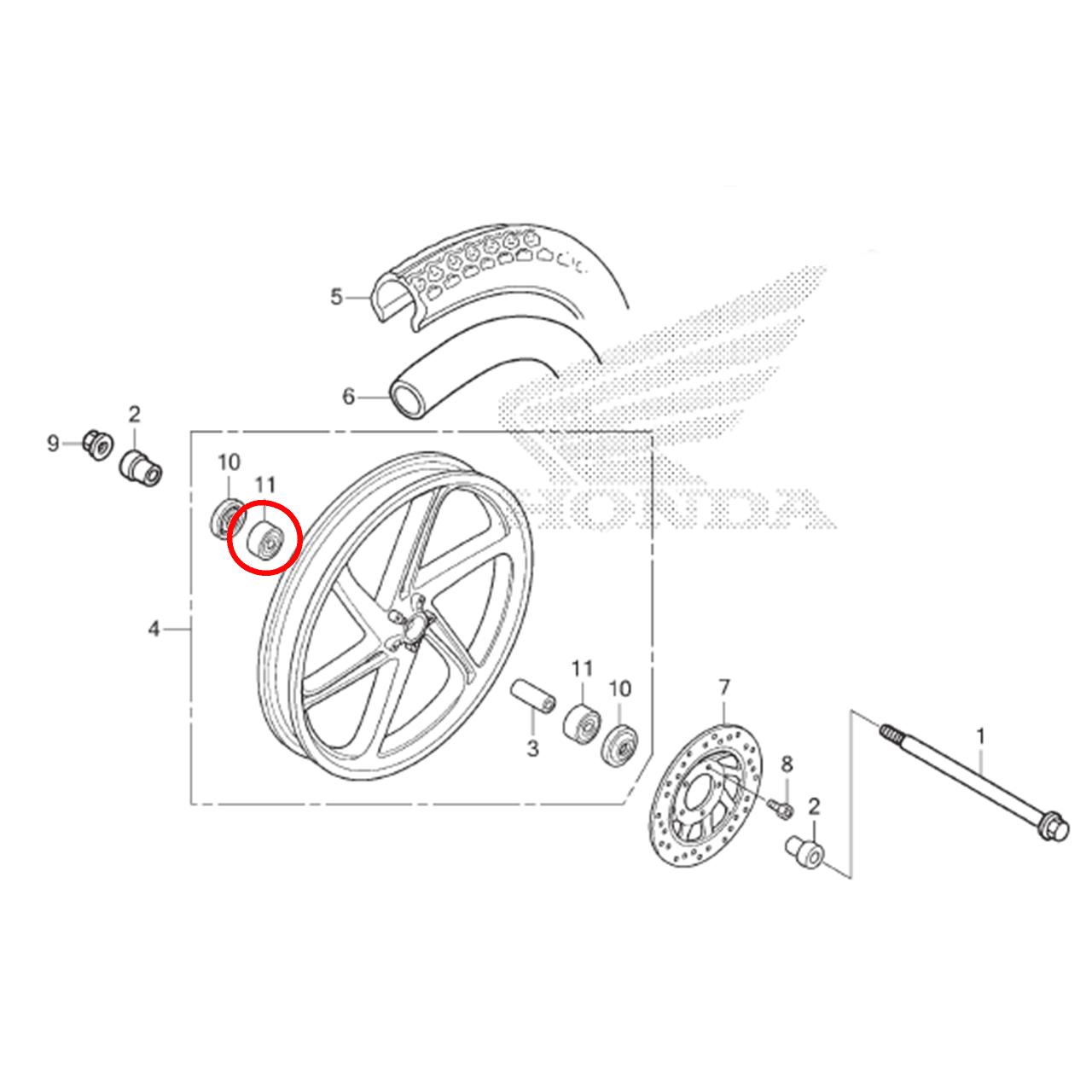 Rolamento Roda Dianteira Biz 125 2011 2012 2013 2014 2015 Original Homda 961506301010
