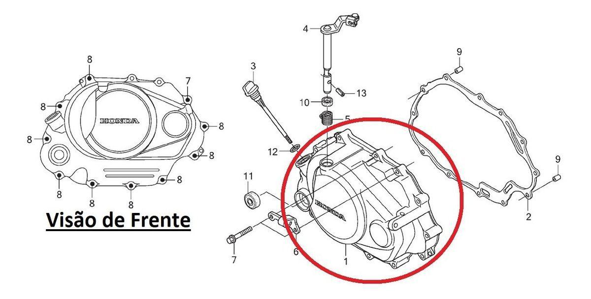 Tampa Lateral Direita Motor Titan KS Original Honda 11330KVS600