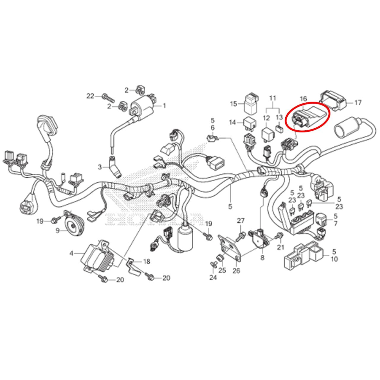 Unidade Modulo PGM Cg 150 TITAN FAN START CARGO 2014 2015 Original Honda 38770KVSF02