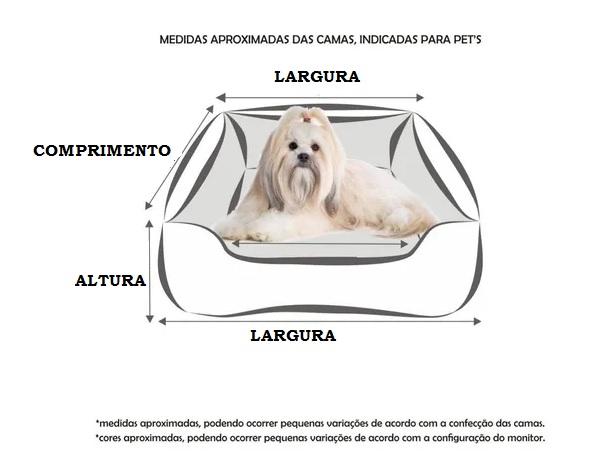 Caminha para cachorro estampada 61 x 61cm Tamanho G Lavável Envio Imediato 2