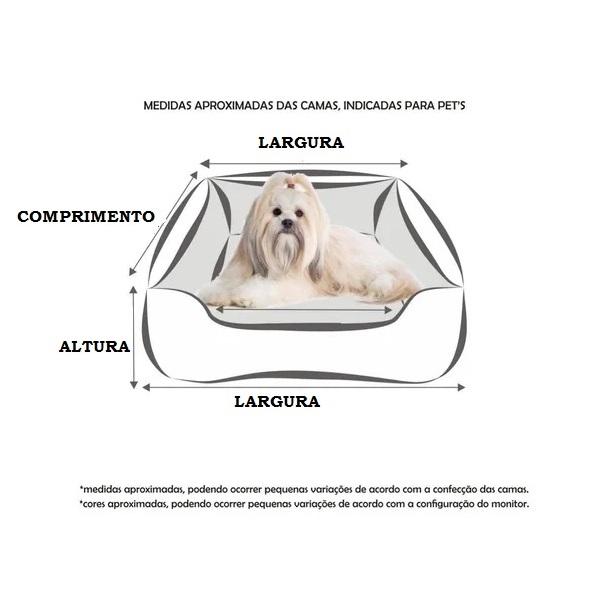 Cama Para Cães E Gatos Cão Shop 56X56Cm Tamanho M - 17