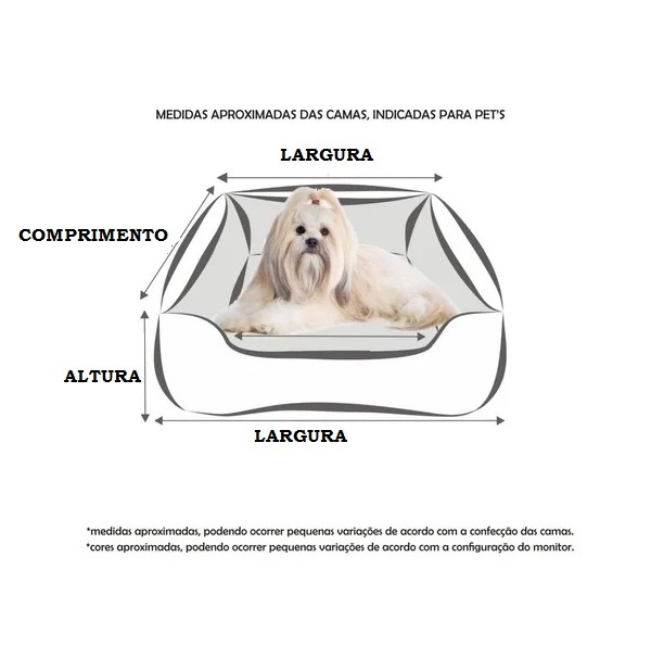 Cama Para Cães E Gatos Cão Shop 45X45Cm Tamanho P - 2