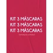 kit 3 máscaras