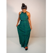 vestido longo est. samambaia verde