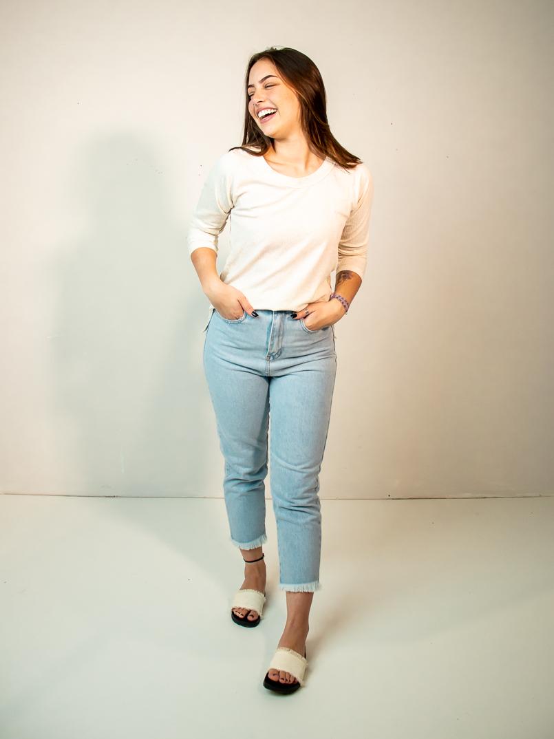 blusa manga longa linho
