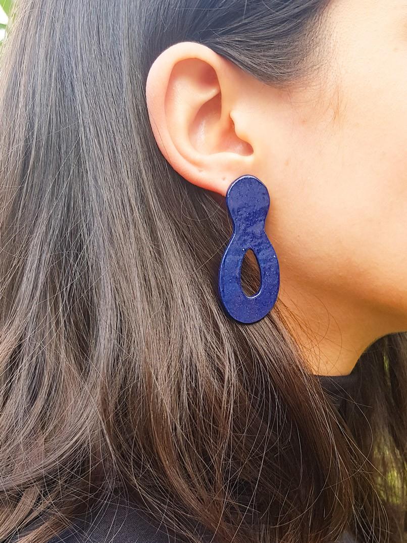 brinco eva cerâmica - azul