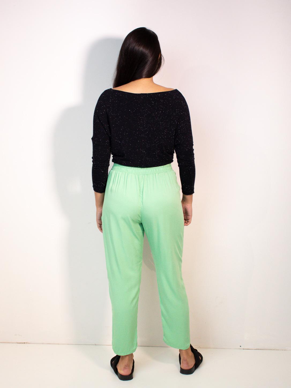 calça alfaiataria manu - verde água  - MUDI