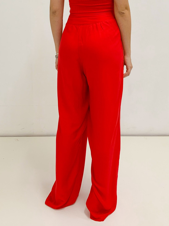 calça pantalona 2 botões vermelha  - MUDI