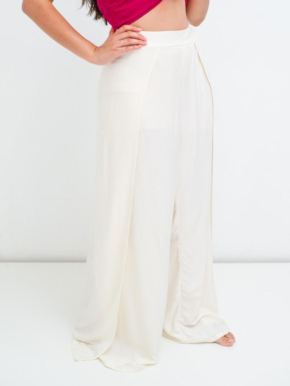 calça pantalona fendas off white  - MUDI