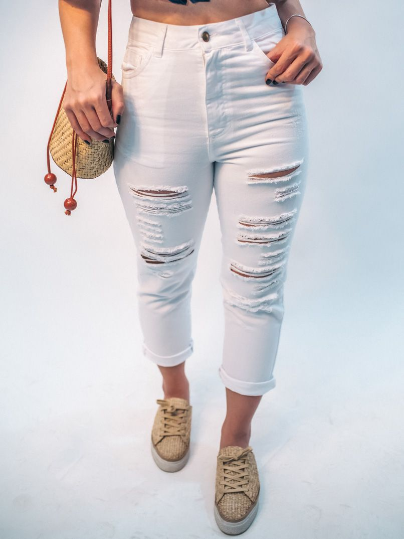 calça sarja sofia color - branca