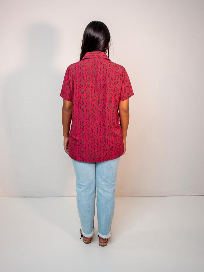camisa no gender est. samambaia rosa  - MUDI