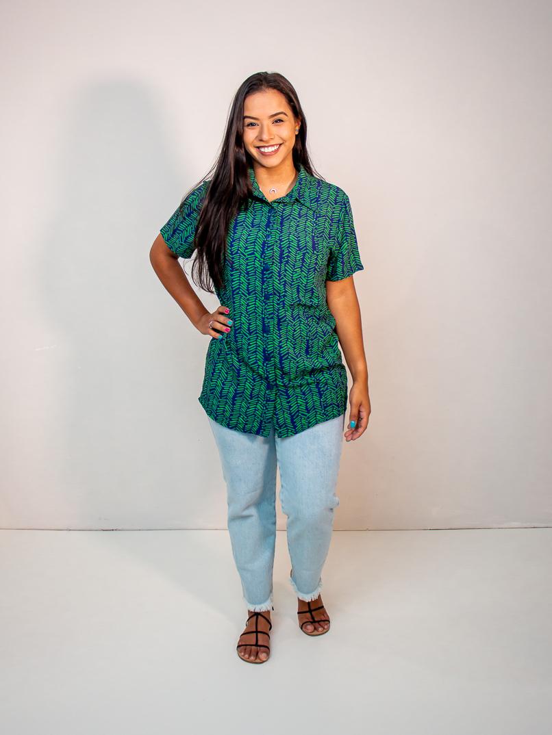 camisa no gender est. samambaia verde  - MUDI
