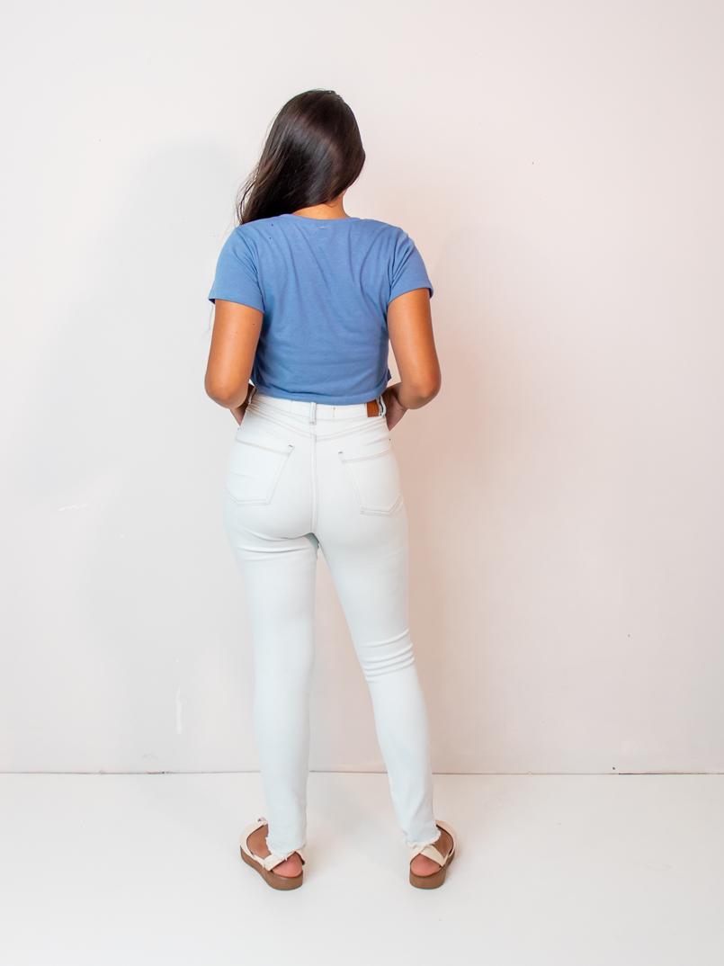cropped malha eco - azul  - MUDI