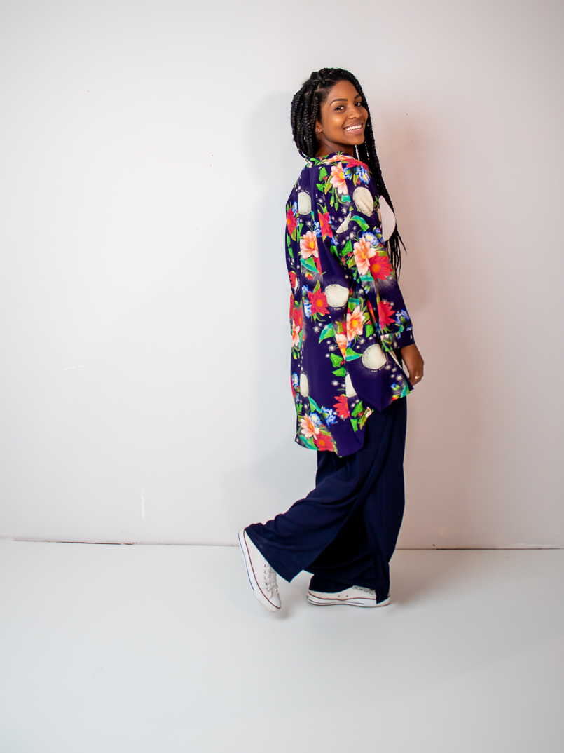 kimono est. vitória régia azul
