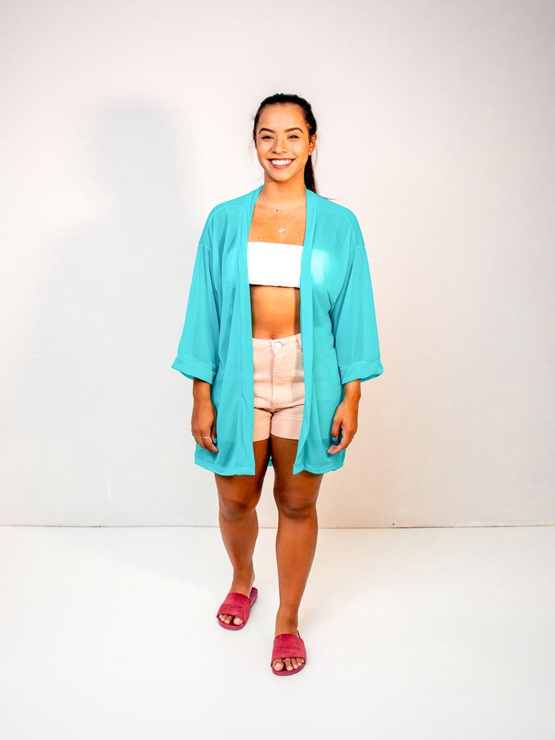 kimono fluor azul